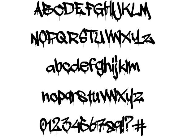 Graffiti Dripping Letter Font