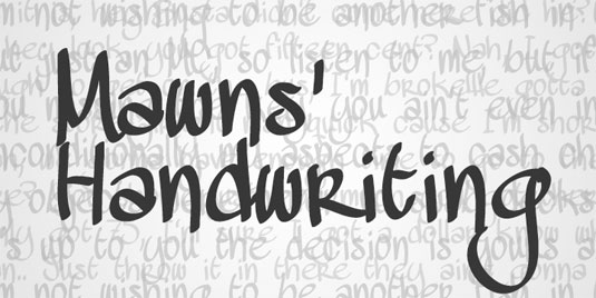Modern handwriting script font free images