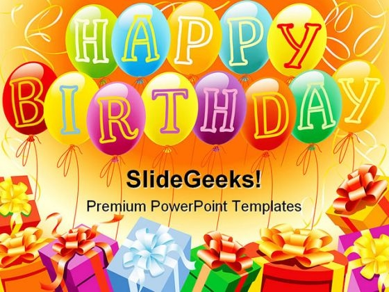 18 Birthday Powerpoint Templates Images Free Birthday Powerpoint
