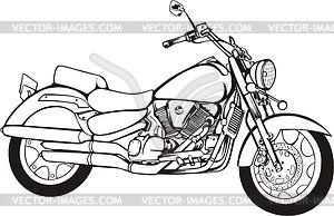 Harley-Davidson Motorcycle Clip Art Black and White