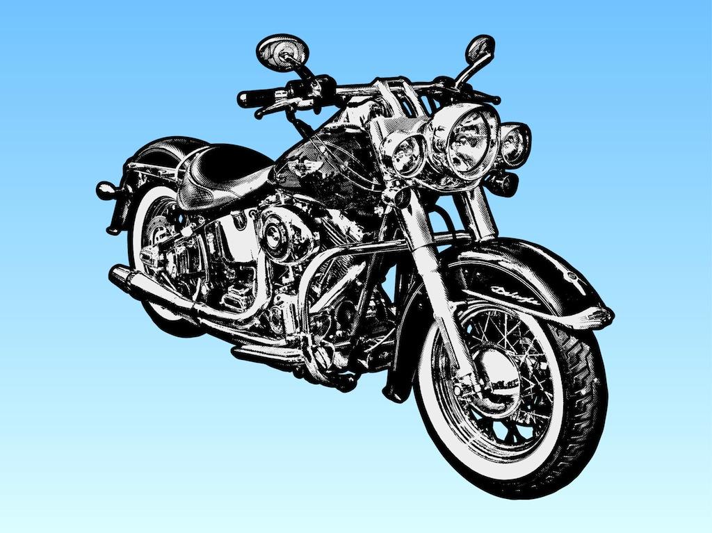 Harley-Davidson Motorcycle Clip Art Vector