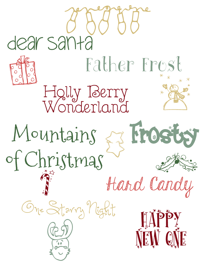 holiday fonts christmas