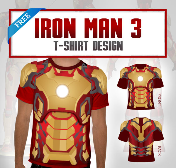 Iron Man Armor T-Shirt Template