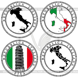 Italian Passport Stamp Clip Art