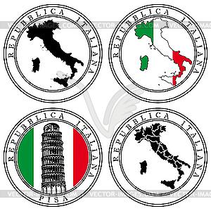 Italian Passport Stamp Clip Art