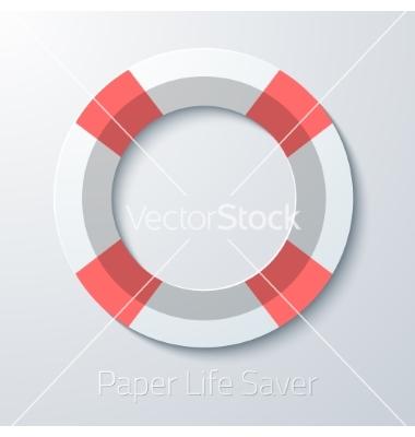 Life Saver Icon Flat