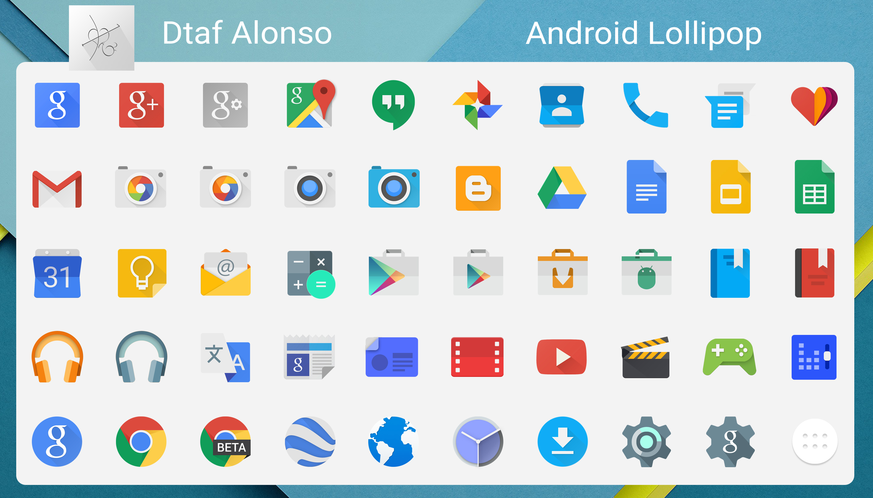 12 Android Lollipop Icons Vector Images