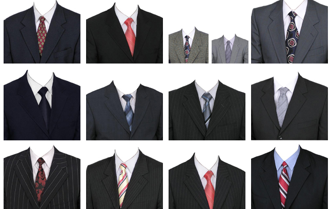 6 Men Suit PSD Template Images