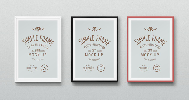 7 Picture Frame PSD Mockup Templates Free Images