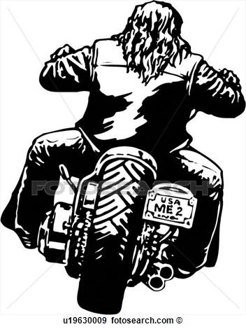 Motorcycle Clip Art Illustration