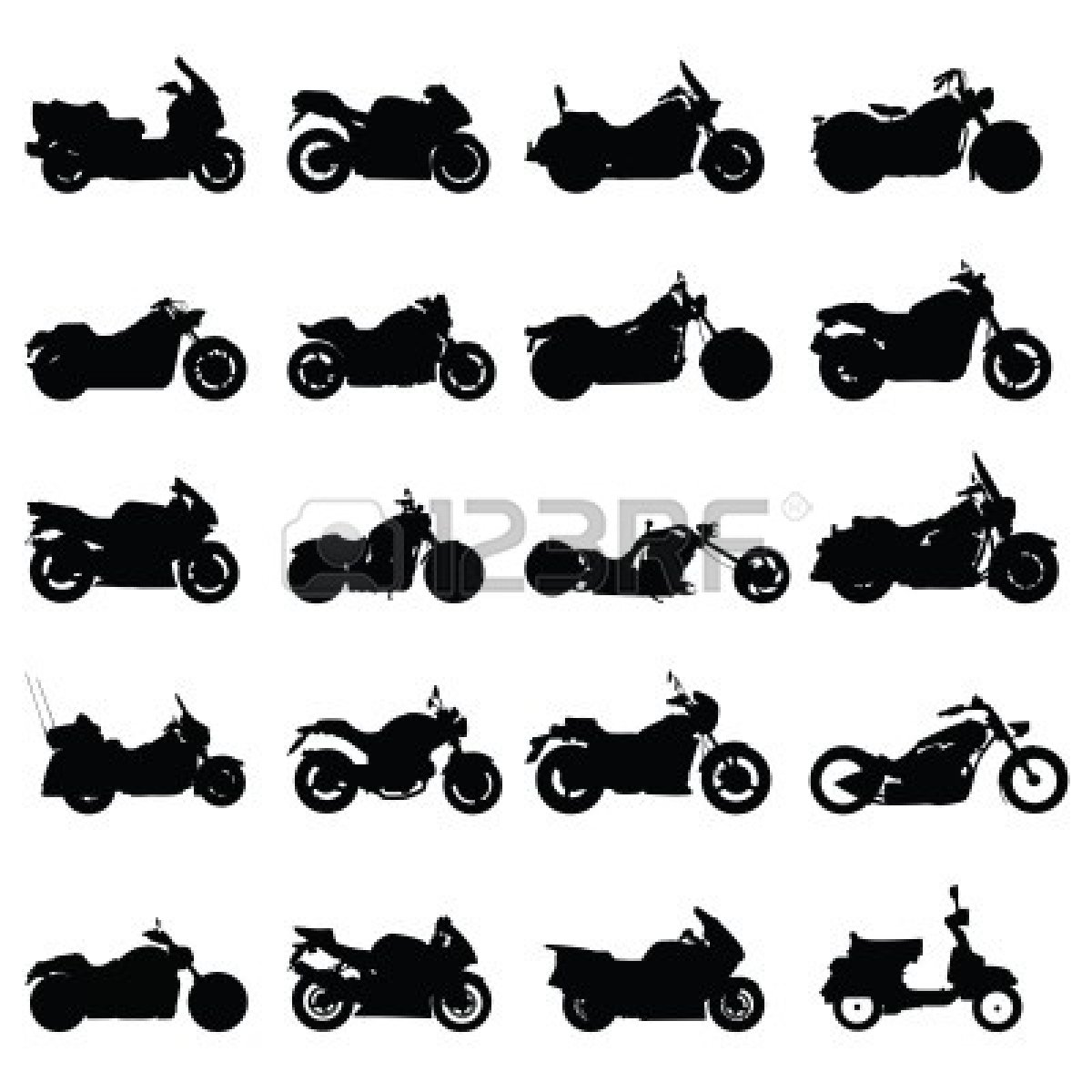 Motorcycle Silhouette Vector Free