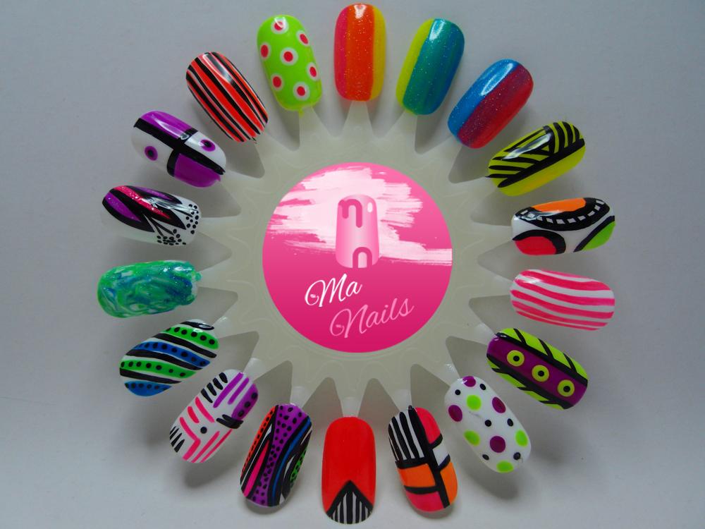 Famous Nail Art Design Neon Embellishment - Nail Art Ideas ...