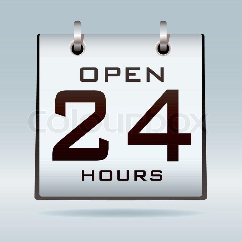 Open 24 HR Clip Art