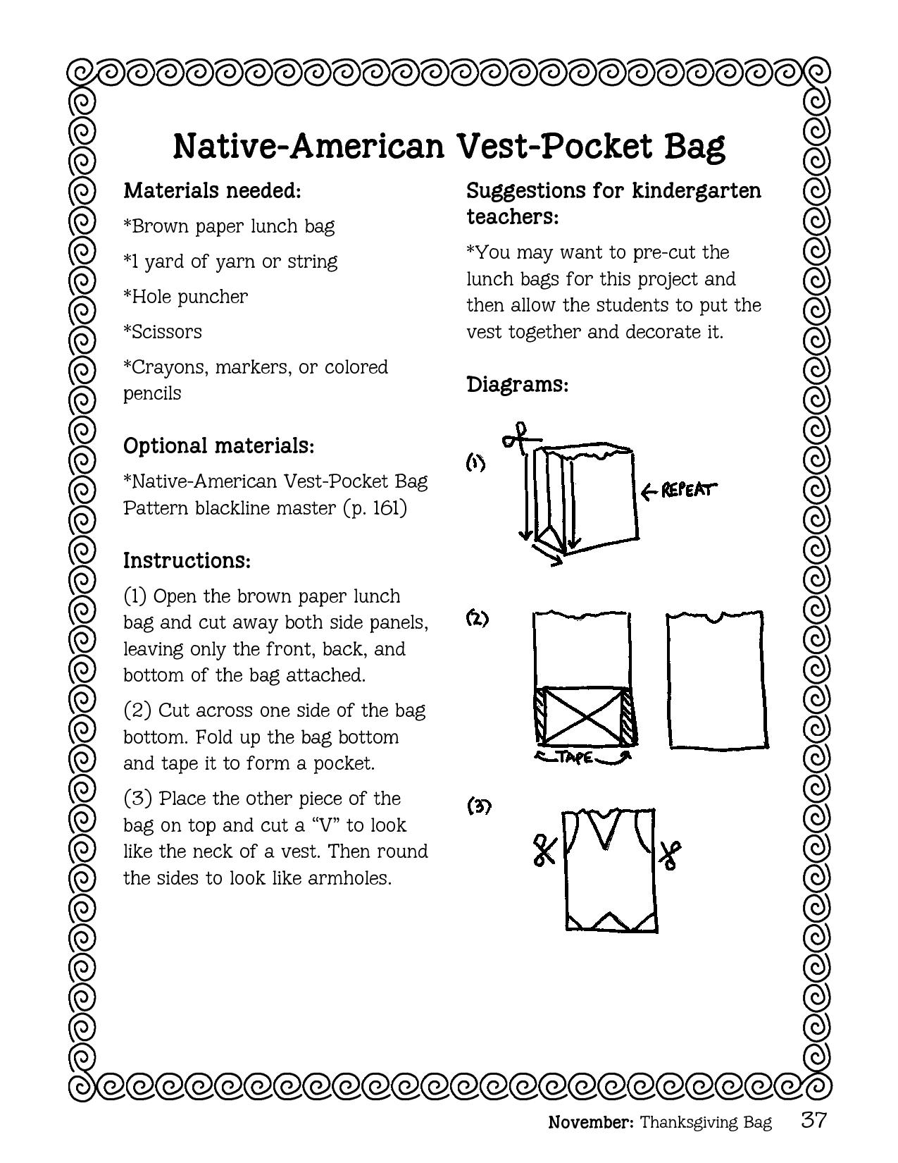 Paper Bag Indian Vest Template