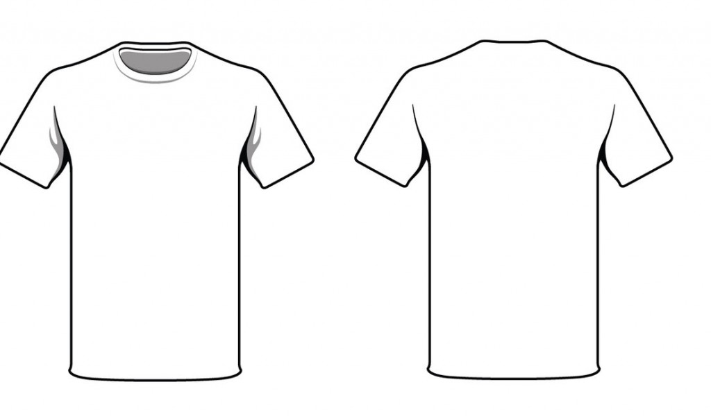 Plain T-Shirt Template Front and Back