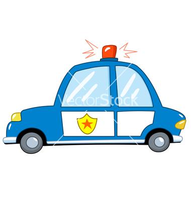 13 Cop Car Cartoon Vector Images