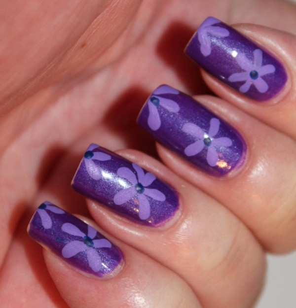 18 flower nail designs polish images pink flower nail design purple nail polish designs solutioingenieria Image collections