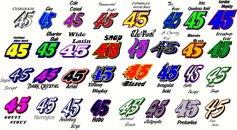 Thick Racing Number Font Images Race Car Number Fonts Race