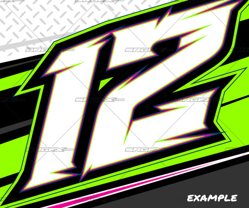 13 Thick Racing Number Font Images - Race Car Number Fonts ...