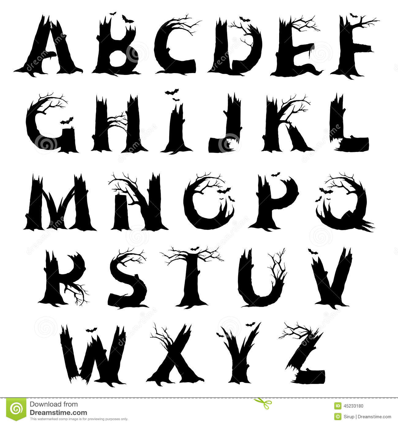 14 Scary Fonts A-Z Images