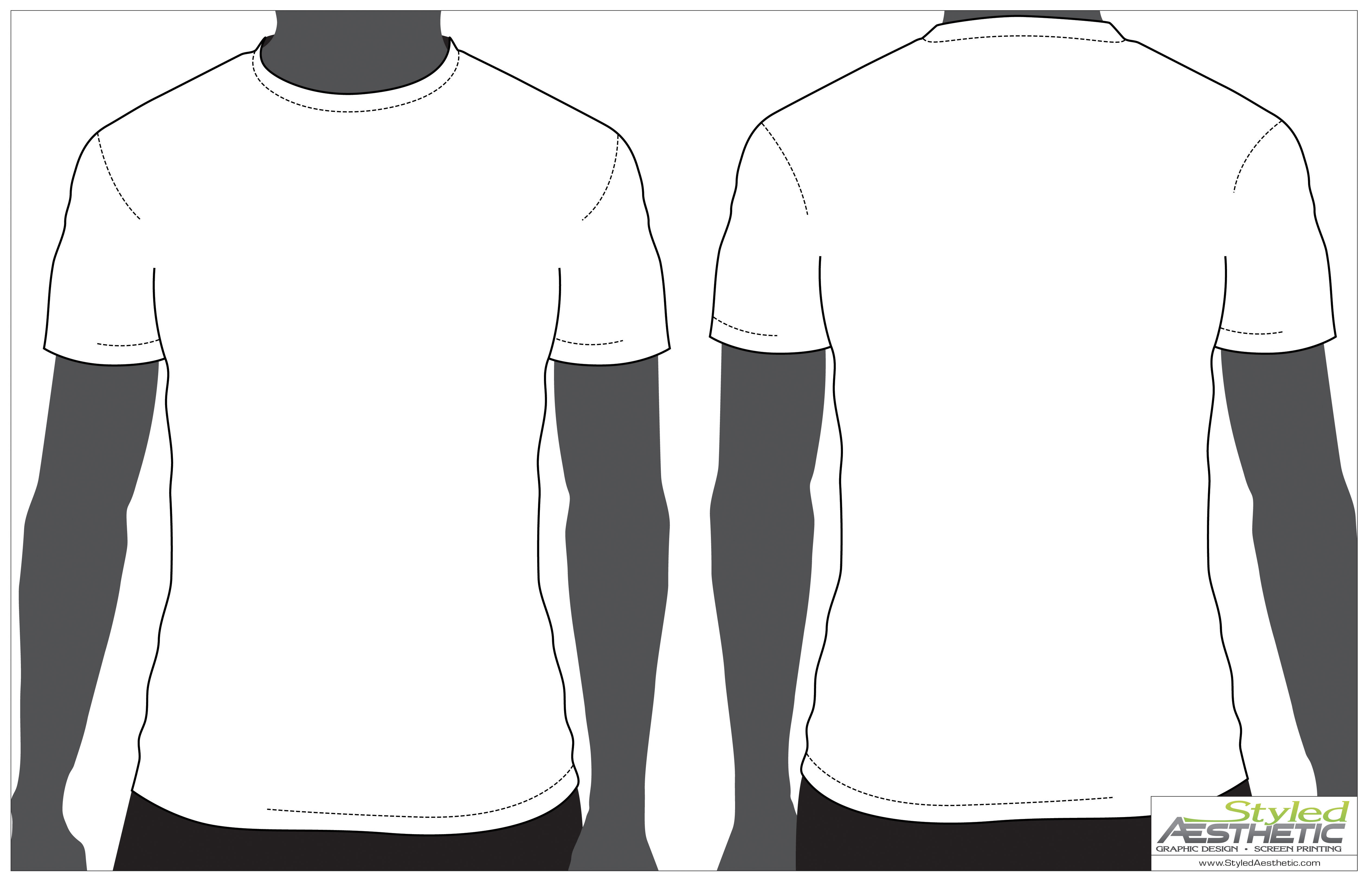 Shirt Template Front and Back