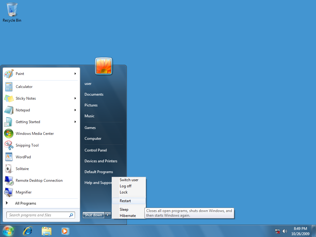 12 Shut Down Windows 7 Start Menu Icon Images