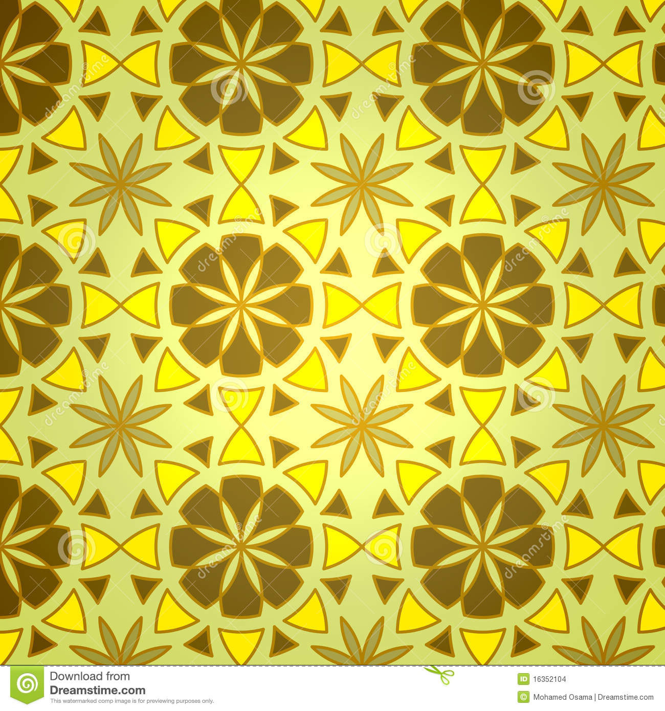 Simple Geometric Flower Patterns