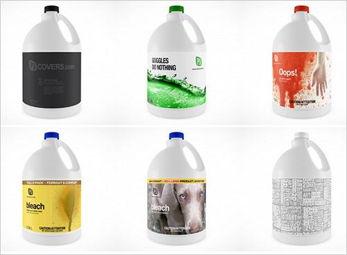 Spray Bottle Mockup PSD
