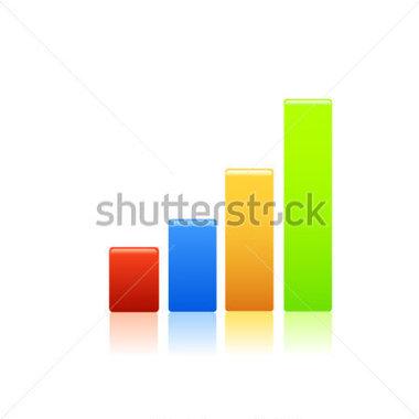 Stock market graph clipart