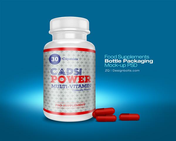 Supplement Bottle PSD Mockup