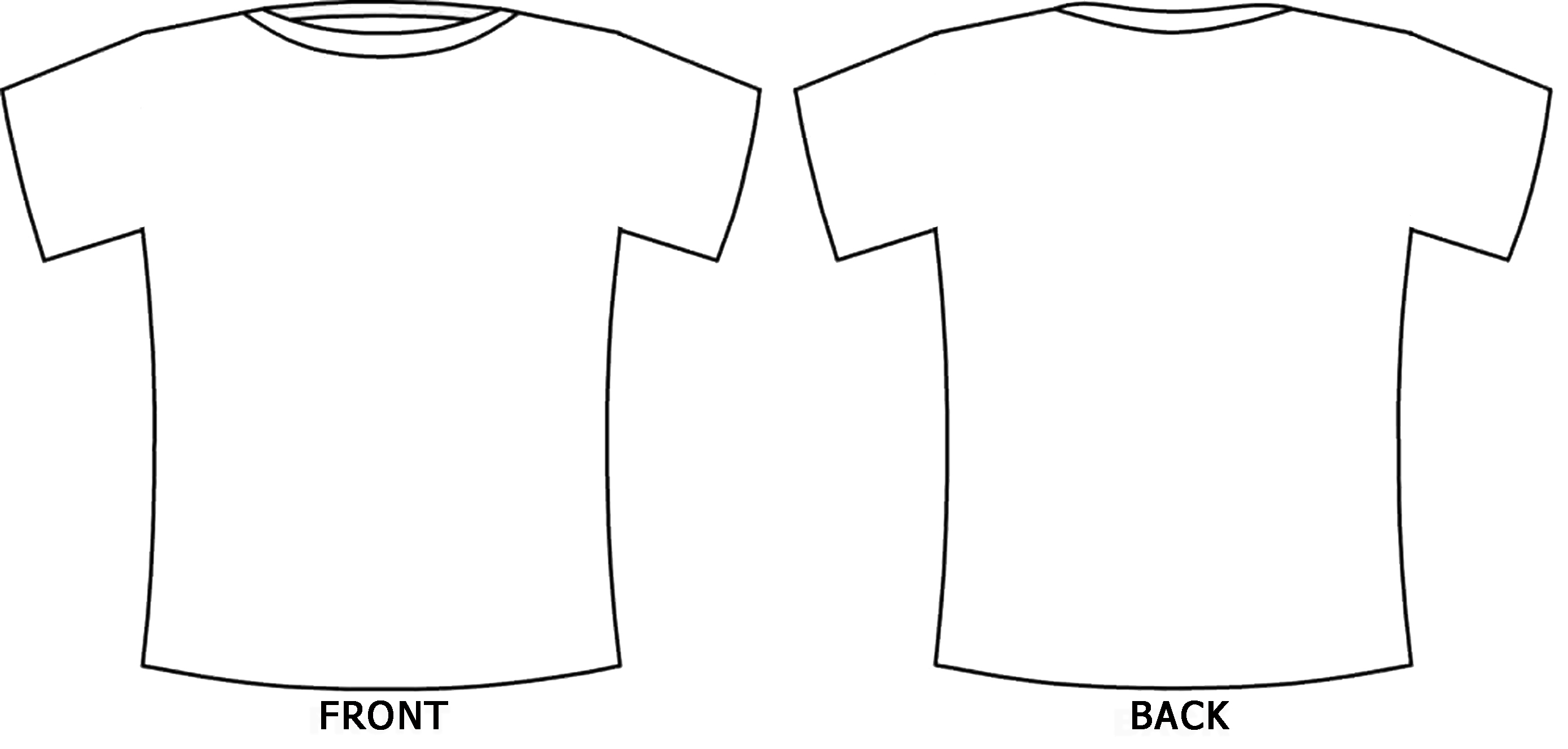 11 t shirt template front and back images t shirt for Design at shirt template