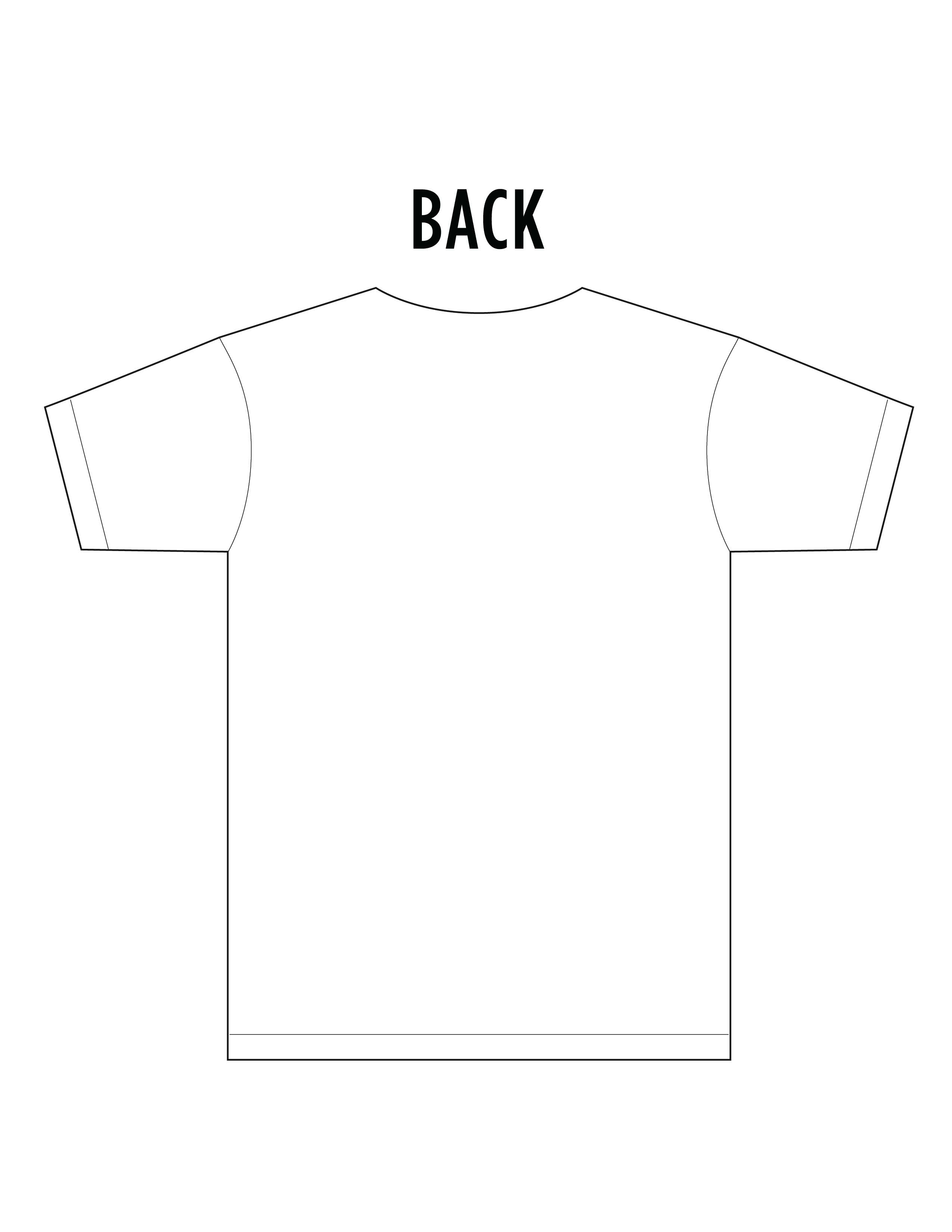 11 T-Shirt Template Front And Back Images