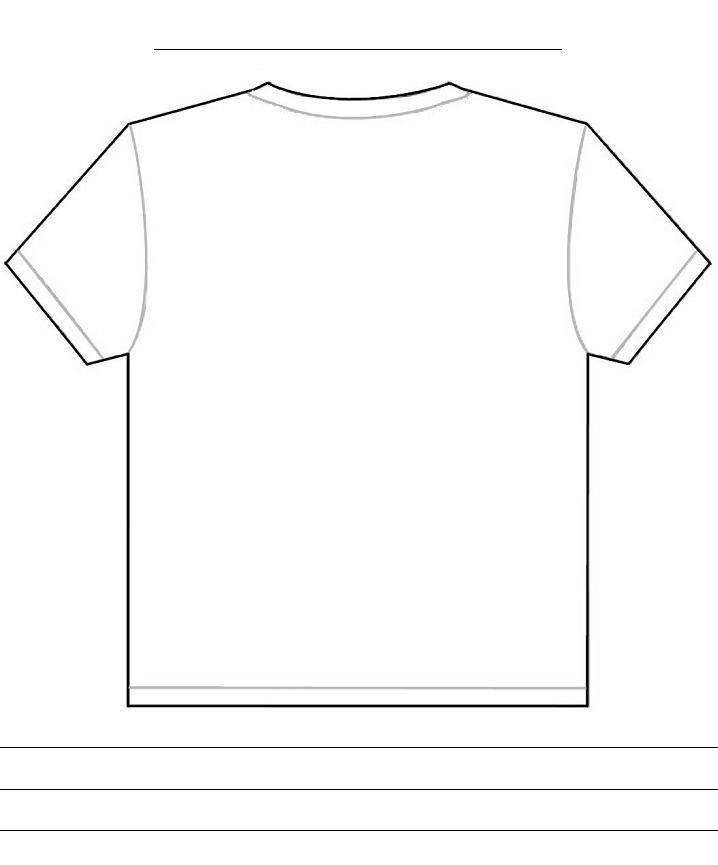 T-Shirt Template Back