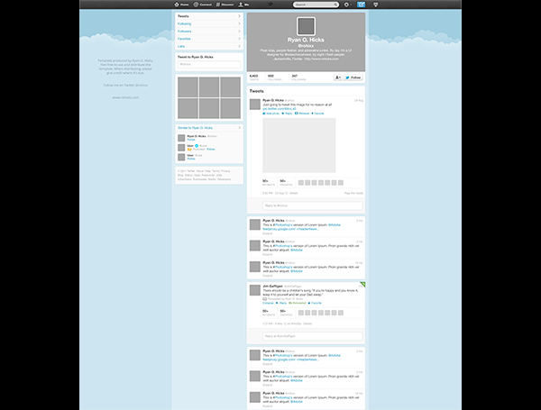 15 Twitter Template PSD Images