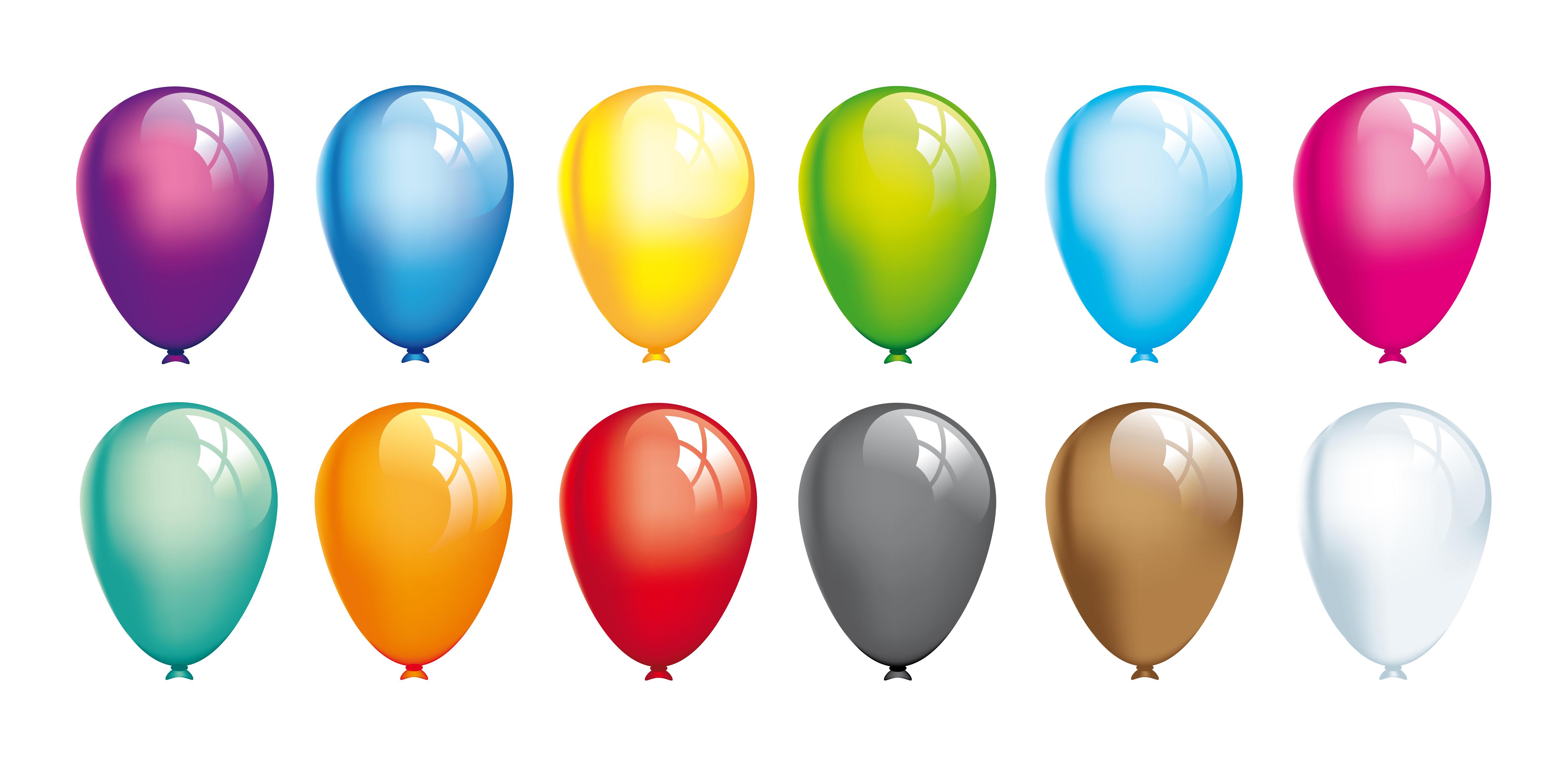 Vector Birthday Balloons Clip Art