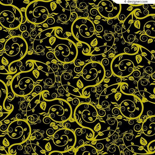 Vector Black Vines Patterns