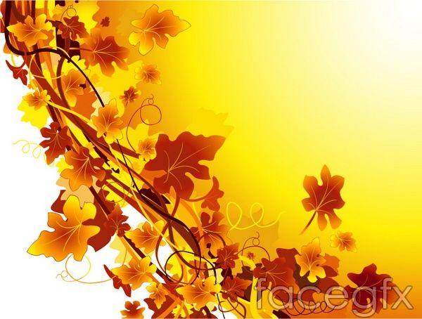 Vector Fall Leaves Vine