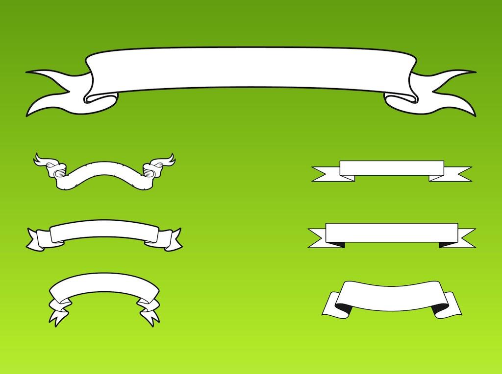 Vector Ribbon Banner Clip Art