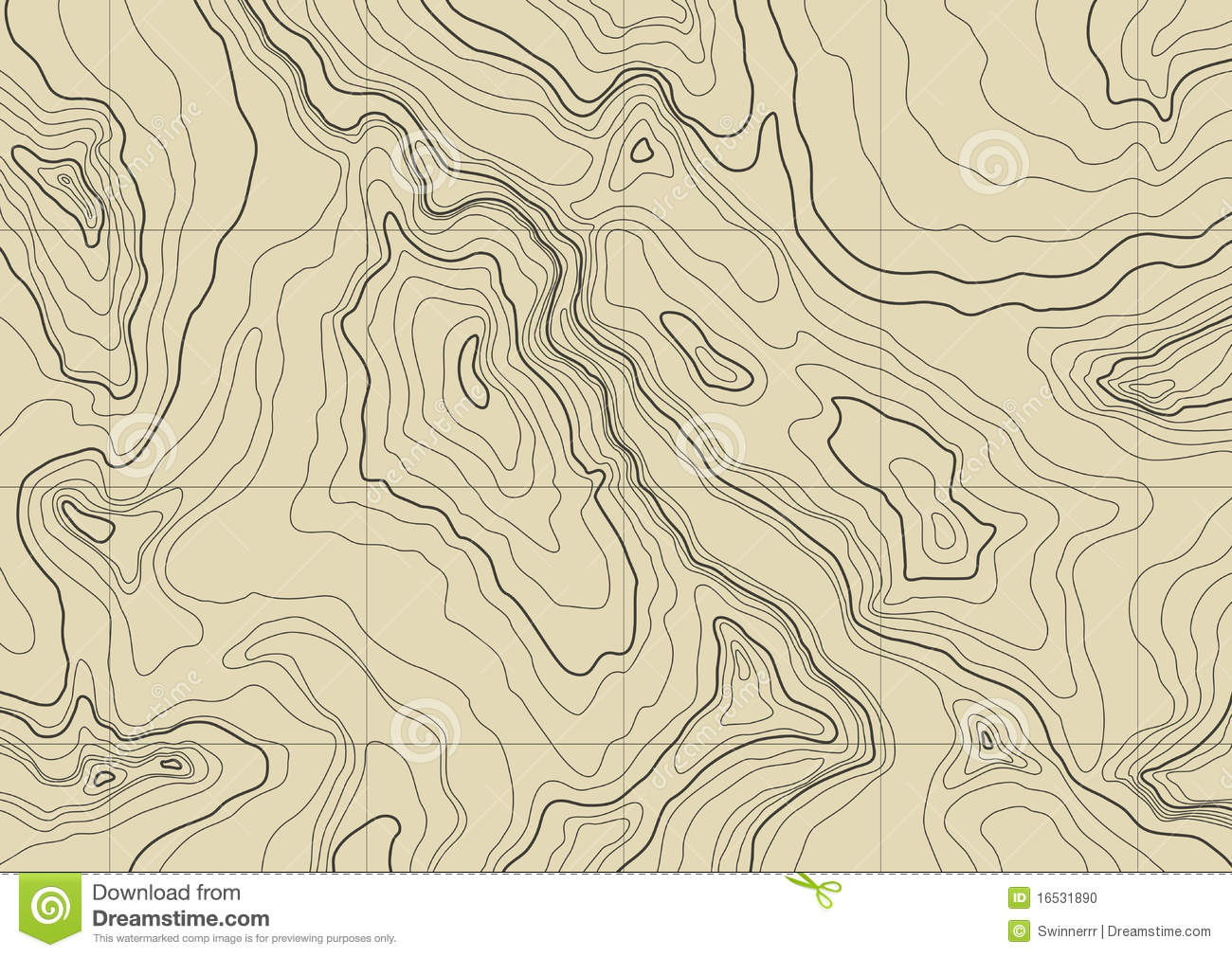 18 Topographic Map Vector Images
