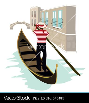 Venice Italy Clip Art Image Graphic