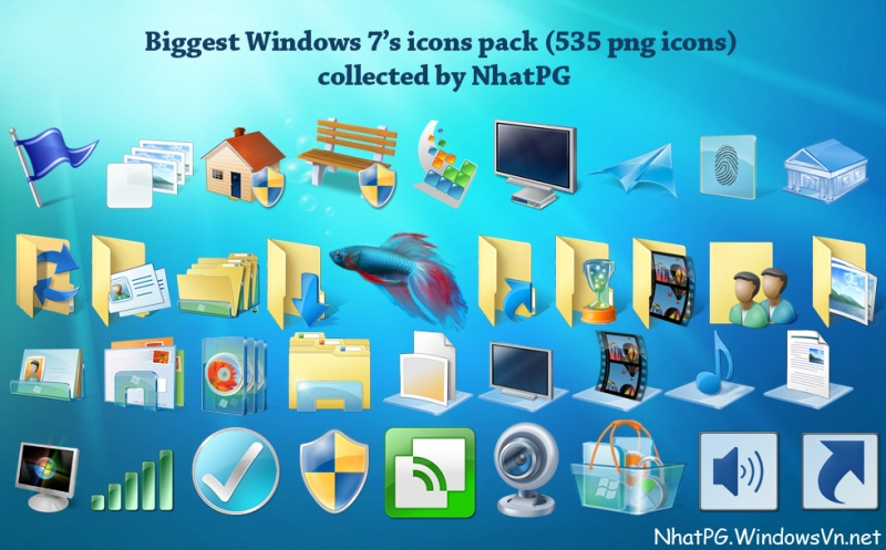14 Windows 7 Library Icons Pack Images