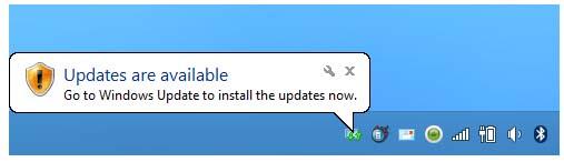 Windows 7 Update Notification Icon