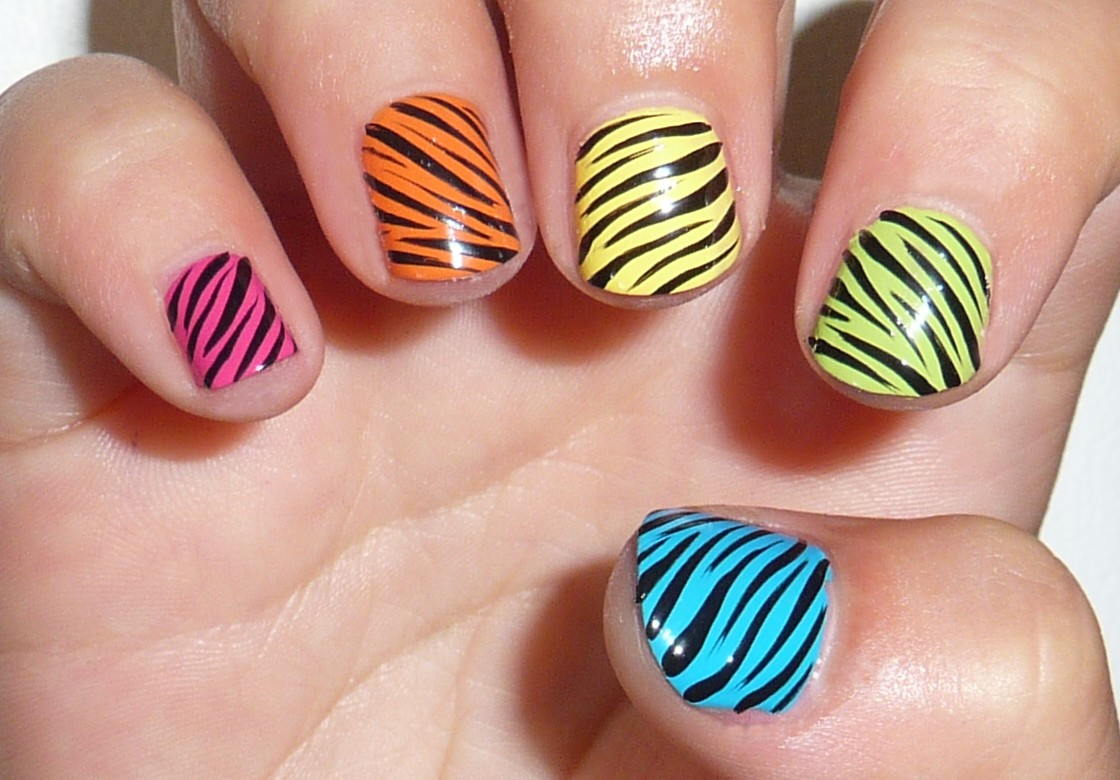 15 Zebra Animal Print Nail Designs Images