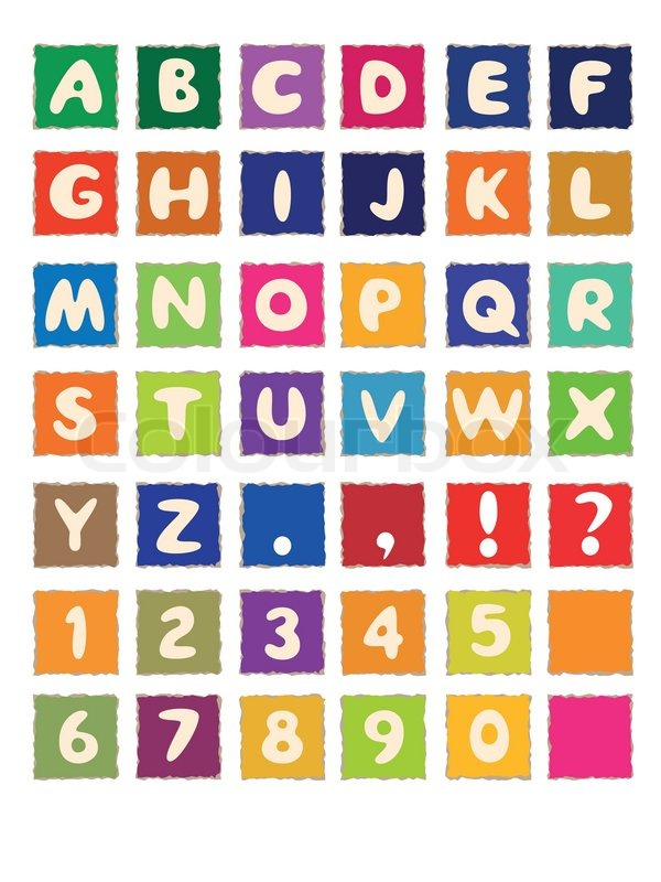 ABC Cartoon Letters Alphabet