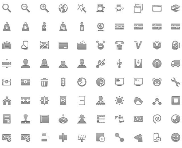 Android Icon Symbols