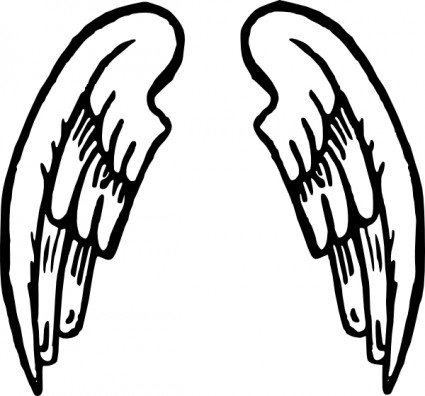 14 Angel Wings Vector Clip Art Images