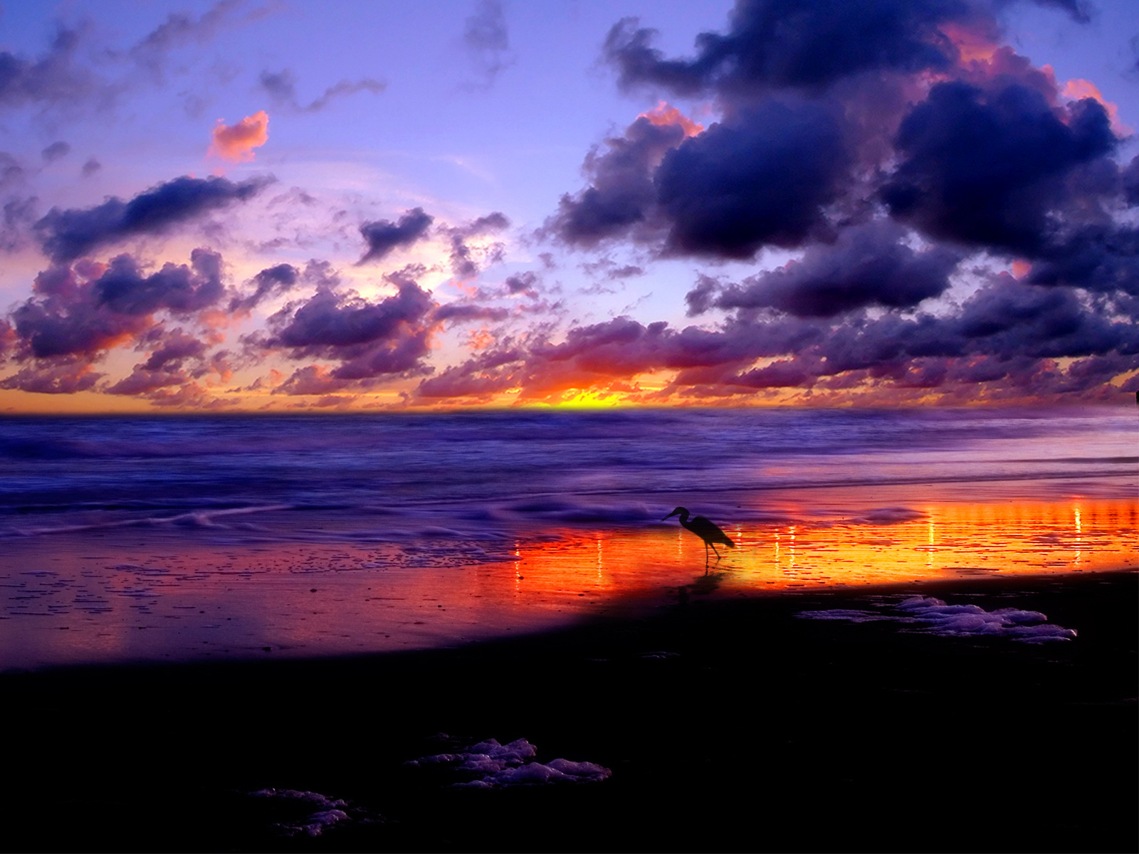 Beautiful Beach Sunset Desktop
