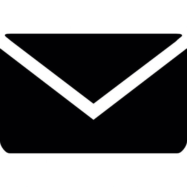 Black Email Envelope Icon
