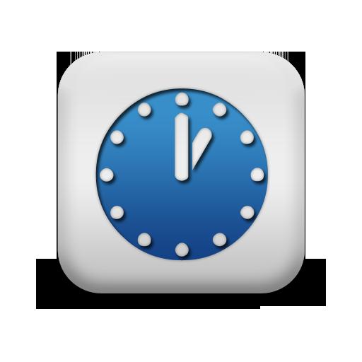 Blue and White Square Icon Com
