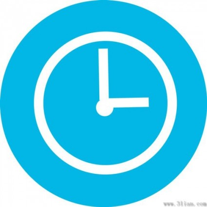 Blue Clock Icon Vector